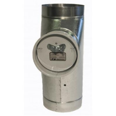 Тройник дымохода воздухонагревателя